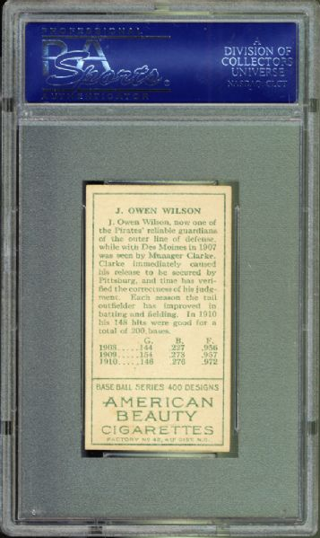 1911 T205 Gold Border J. Owen Wilson PSA 7 NM