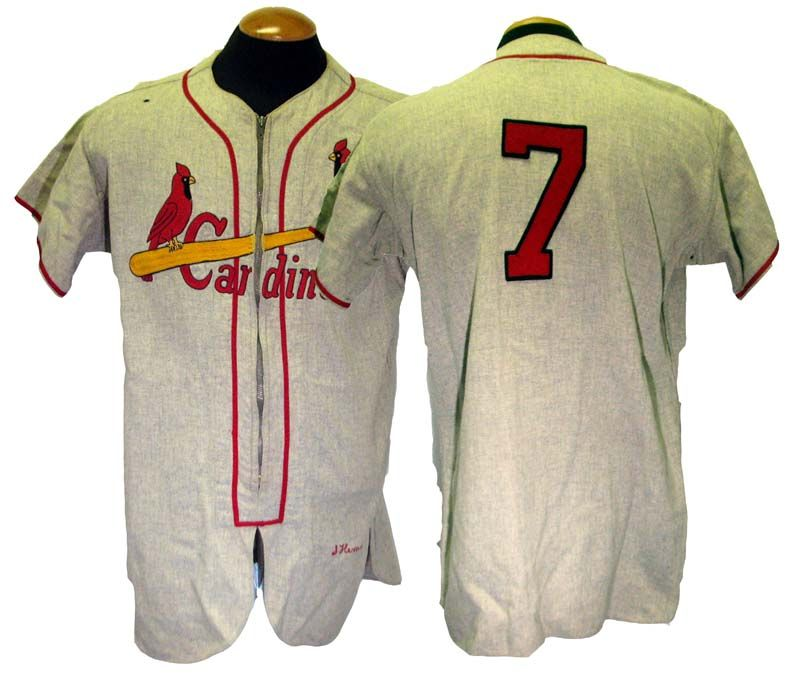 f2b558344 Lot Detail - 1954 Solly Hemus St. Louis Cardinals Game-Used Road Jersey