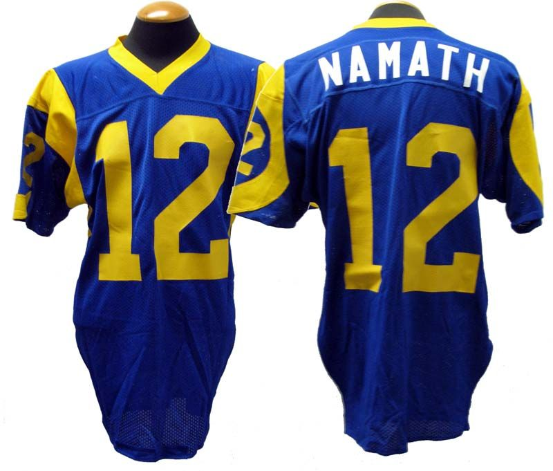 Lot Detail 1977 Joe Namath Los Angeles Rams Game Used Home Jersey