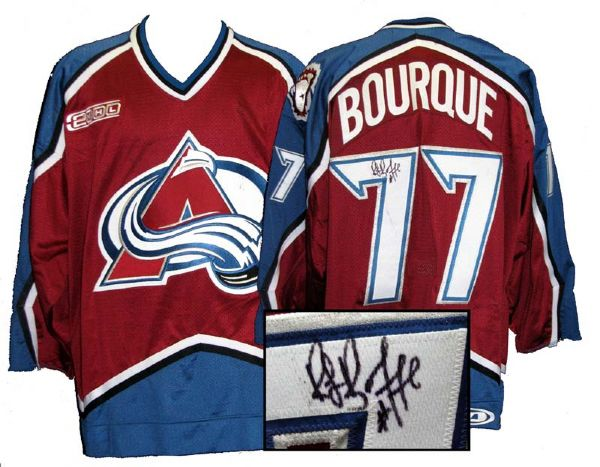 super popular bd308 abdb0 Lot Detail - 1999-2000 Ray Bourque Colorado Avalanche Game ...
