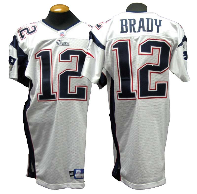 tom brady game used jersey auction