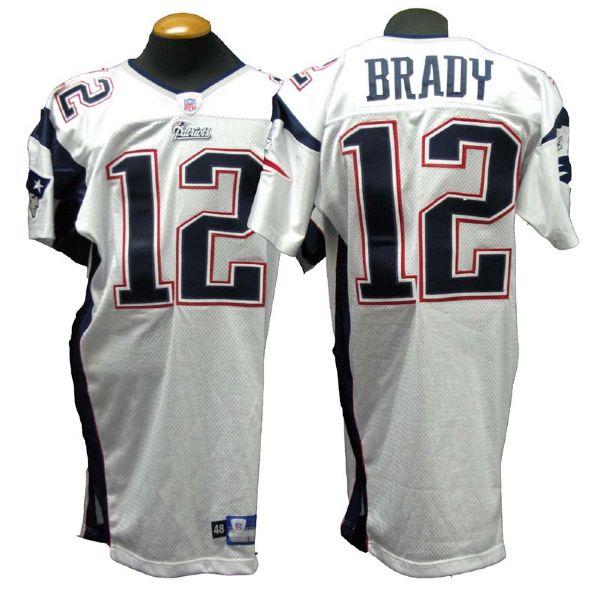 tom brady game used jersey