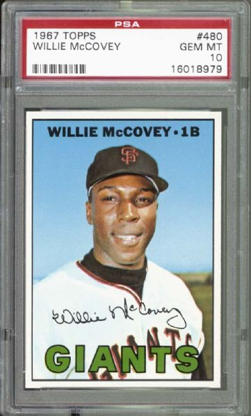 1967 Topps #480 Willie McCovey PSA 10 GEM MINT