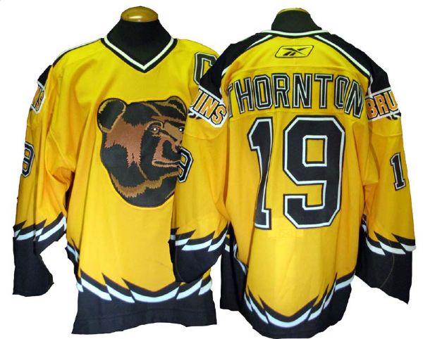 finest selection 2b122 f5439 Lot Detail - 2005-06 Joe Thornton Boston Bruins Game-Used ...