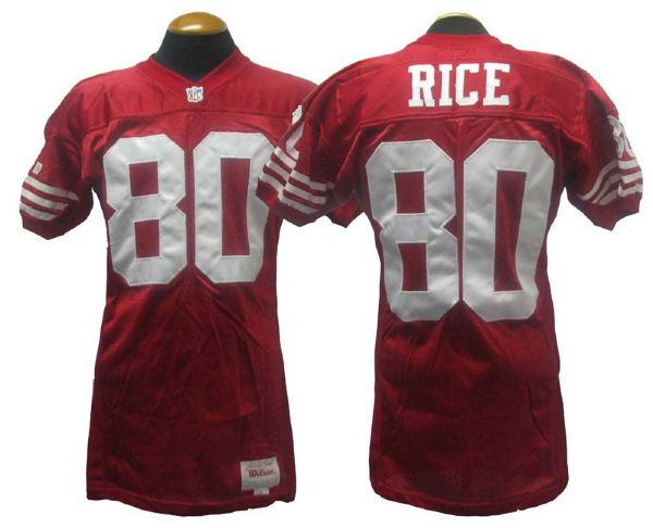 newest 9147f baf87 Lot Detail - 1994 Jerry Rice San Francisco 49ers Game-Used ...