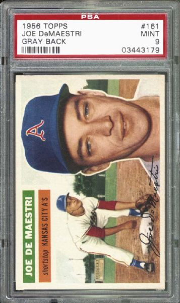 1956 Topps #161 Joe DeMaestri PSA 9 MINT