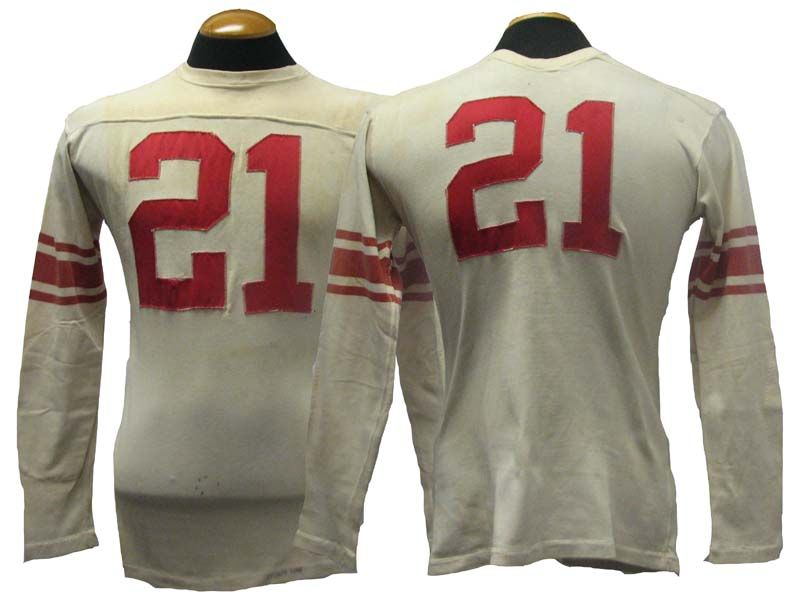 958f963a07d4 Lot Detail - 1950s Chicago Cardinals Game-Used Football Jersey