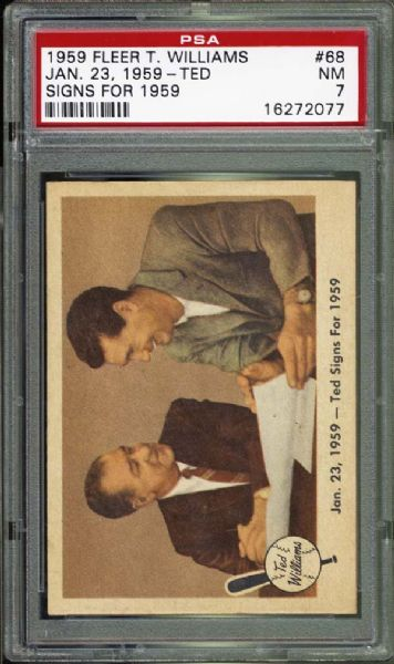 1959 Fleer Ted Signs for 1959 PSA 7 NM