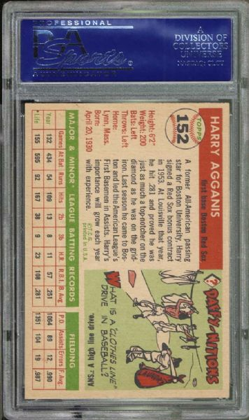 1955 Topps #152 Harry Agganis PSA 8.5 NM/MT+