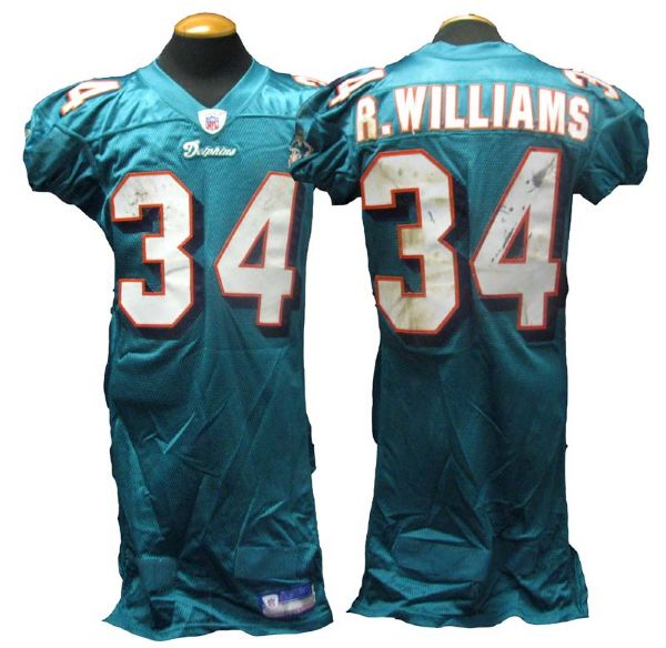 hot sale online 274fa ed7b5 Lot Detail - 2003-04 Ricky Williams Miami Dolphins Game-Used ...