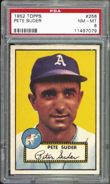 1952 Topps #256 Pete Suder PSA 8 NM/MT
