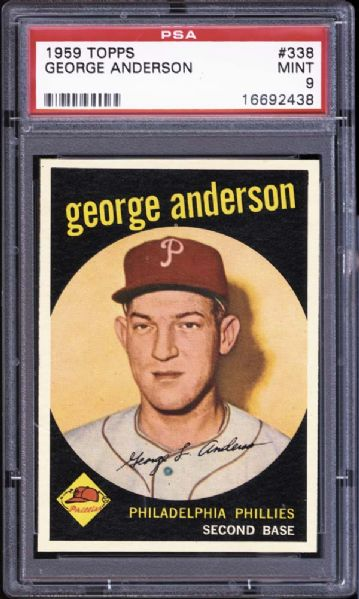 1959 Topps #338 George Anderson PSA 9 MINT