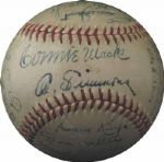 1948 Philadelphia As Team-Signed Ball with Connie Mack and Al Simmons LOA PSA/DNA