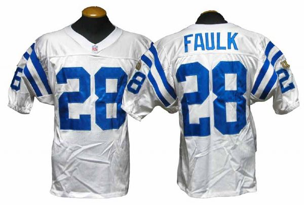 timeless design 82bcb f9887 Lot Detail - 1995 Marshall Faulk Indianapolis Colts Game ...
