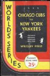 "1932 ""Called Shot"" World Series Program Cubs vs Yankees"