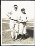 1929 Type I First Generation Photograph Babe Ruth and Miller Huggins PSA/DNA