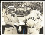 1935 Babe Ruth with Jack Ruppert Type 1 Photograph