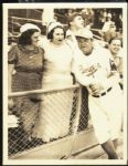 1938 Babe Ruth with Wife and Daughter Type 1 Photograph