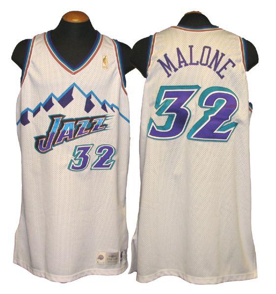 best website d3ee5 de2b1 Lot Detail - 1996-97 Karl Malone Utah Jazz Game-Used Road Jersey
