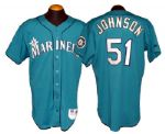 1996 Randy Johnson Seattle Mariners Game-Used Alternate Jersey