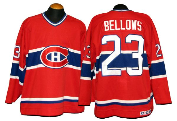 brand new ddc5f 90a3c Lot Detail - 1990s Brian Bellows Montreal Canadiens Game ...