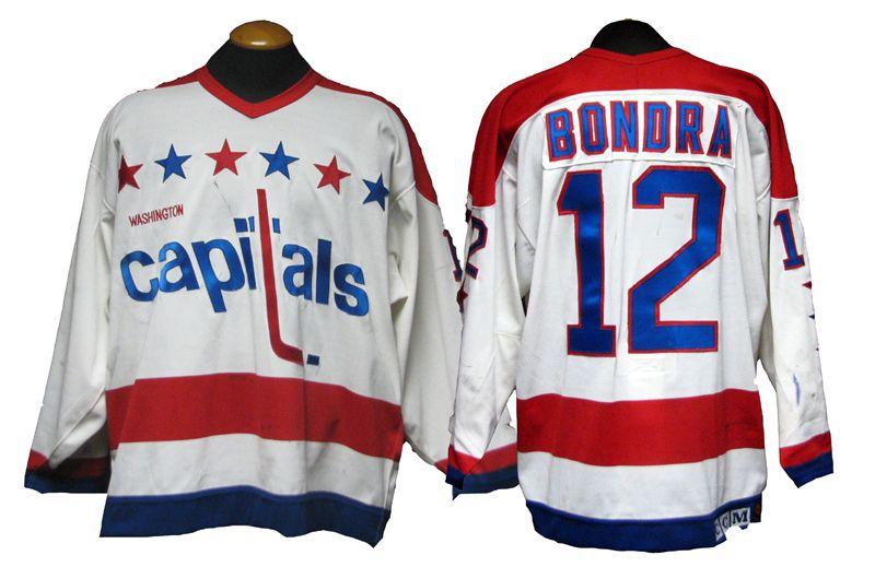 86bc66b9da6 1990-91 Peter Bondra Washington Capitals Game-Used Rookie Year Home Jersey  ...