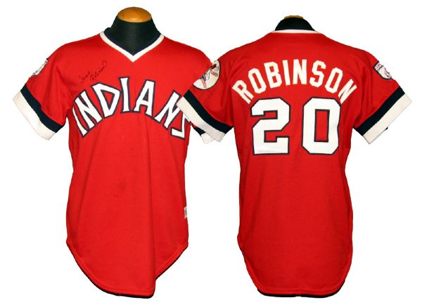 huge discount 0cd1d 5e524 Lot Detail - 1976 Frank Robinson Cleveland Indians Game-Used ...