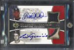 2006 Upper Deck Ultimate Tandem Signature Patches Jeter/Aparcio