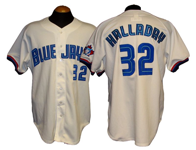 1999 Roy Halladay Toronto Blue Jays Game-Used Home Rookie Jersey SCD A10 ... a005c61a46b