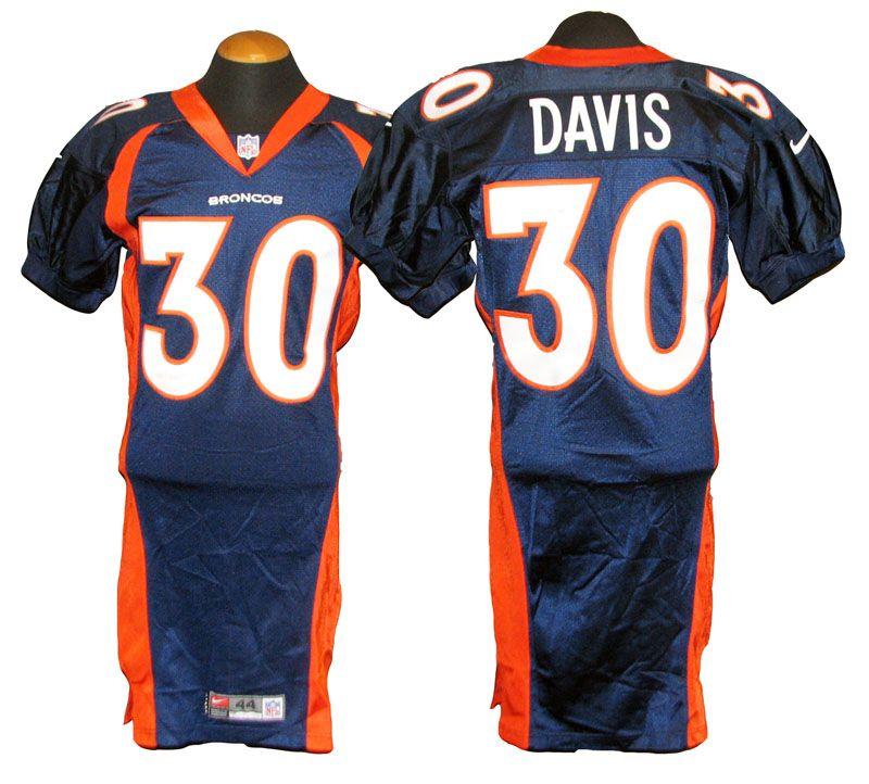 Lot Detail 1999 Terrell Davis Denver Broncos Game Used Jersey
