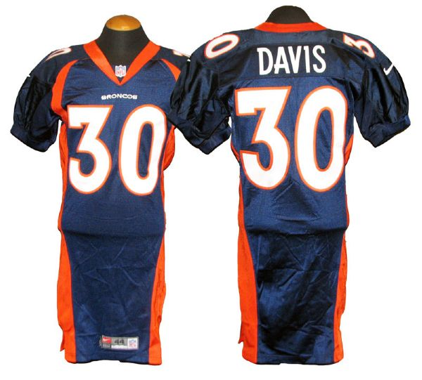 602b2a13b80f Lot Detail - 1999 Terrell Davis Denver Broncos Game-Used Jersey
