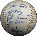 1974 Milwaukee Brewers Team-Signed Ball with Robin Yount