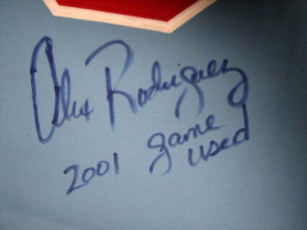 2001 Alex Rodriguez Texas Rangers Game-Used Throwback Jersey