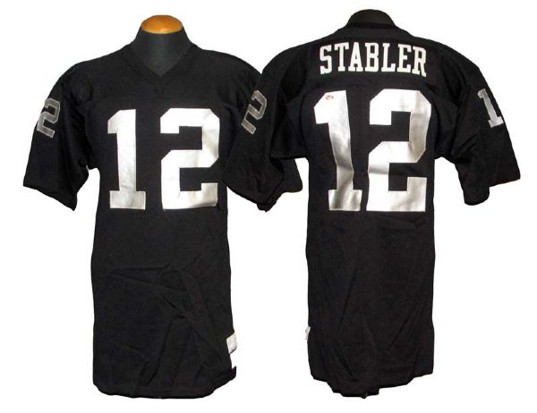 Oakland Game-used Raiders Jersey Detail Stabler 1973-74 - Kenny Lot Home