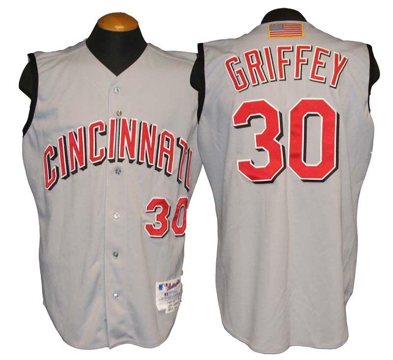 ... 2001 Ken Griffey Jr. Cincinnati Reds Game-Used Jersey . 96eca7480