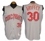 2001 Ken Griffey Jr. Cincinnati Reds Game-Used Jersey