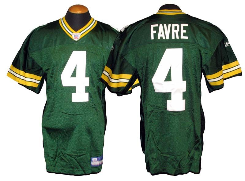 Lot Detail 2002 Brett Favre Green Bay Packers Game Used Home Jersey  supplier GENP3sQE