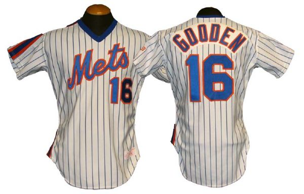 free shipping dd465 c4246 Lot Detail - 1986 Dwight Gooden New York Mets Game-Used Jersey