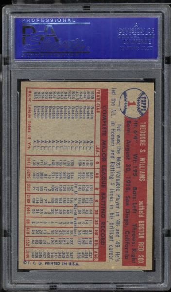 1957 Topps #1 Ted Williams PSA 9 MINT