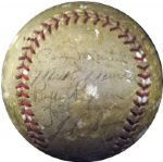 1951 World Champion New York Yankees Team Signed Ball LOA JSA