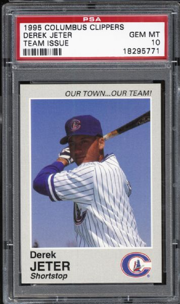 1995 Columbus Clippers Team Issue Derek Jeter PSA 10 GEM MINT