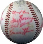 1958 Pittsburgh Pirates Team-Signed Ball with Roberto Clemente LOA PSA/DNA