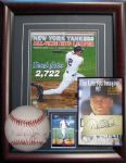 1990s Derek Jeter Ensemble Group of 3 Autographs