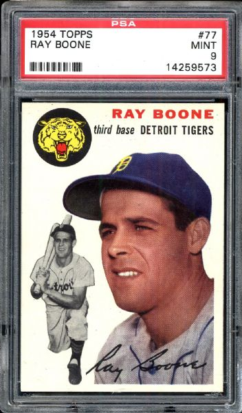 1954 Topps #77 Ray Boone PSA 9 MINT