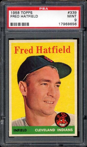 1958 Topps #339 Fred Hatfield PSA 9 MINT