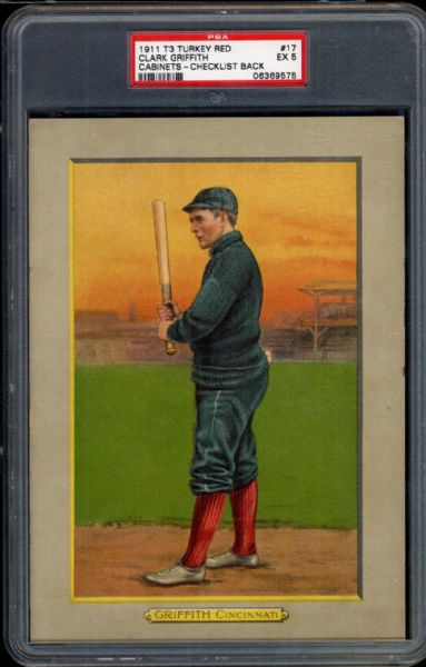 1911 T3 Turkey Red #17 Clark Griffith PSA 5 EX