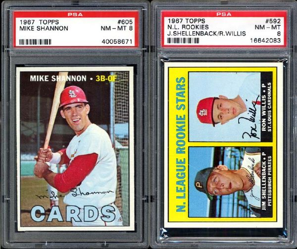 1967 Topps Cardinals Group of 2 PSA 8 NM/MT