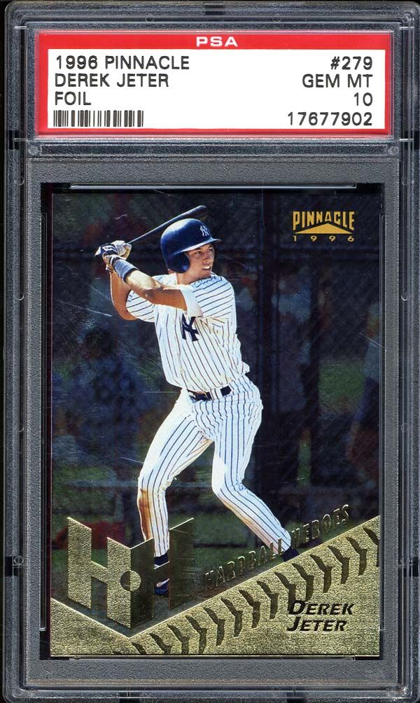 Lot Detail 1996 Pinnacle Foil 279 Derek Jeter Psa 10 Gem Mint