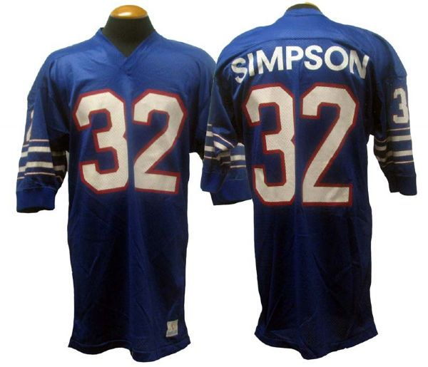 new product bbd89 c762b Lot Detail - 1973 O.J. Simpson Buffalo Bills Game-Used Jersey