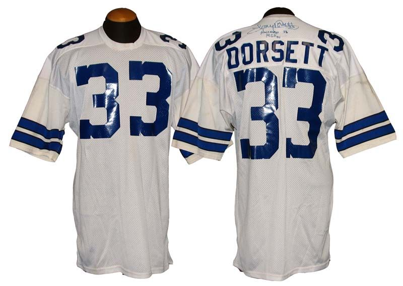 Wholesale Lot Detail 1980s Tony Dorsett Dallas Cowboys Game Used and Signed  for sale
